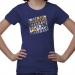 San Jose State Spartans Youth Girls Crossword T-Shirt - Royal Blue