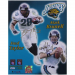 Jacksonville Jaguars Mark Brunell & Fred Taylor Autographed 8'' x 10'' Gold Signature Limited Edition Photograph