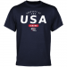 USA Curling Property Of T-Shirt - Navy Blue