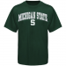 Michigan State Spartans Youth Arched University T-Shirt - Green